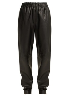 Tibi Tissue leather trousers