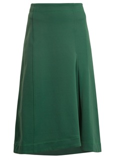 Tibi Topstitched knee-length A-line skirt