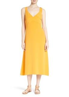 Tibi Trapeze Silk Midi Dress