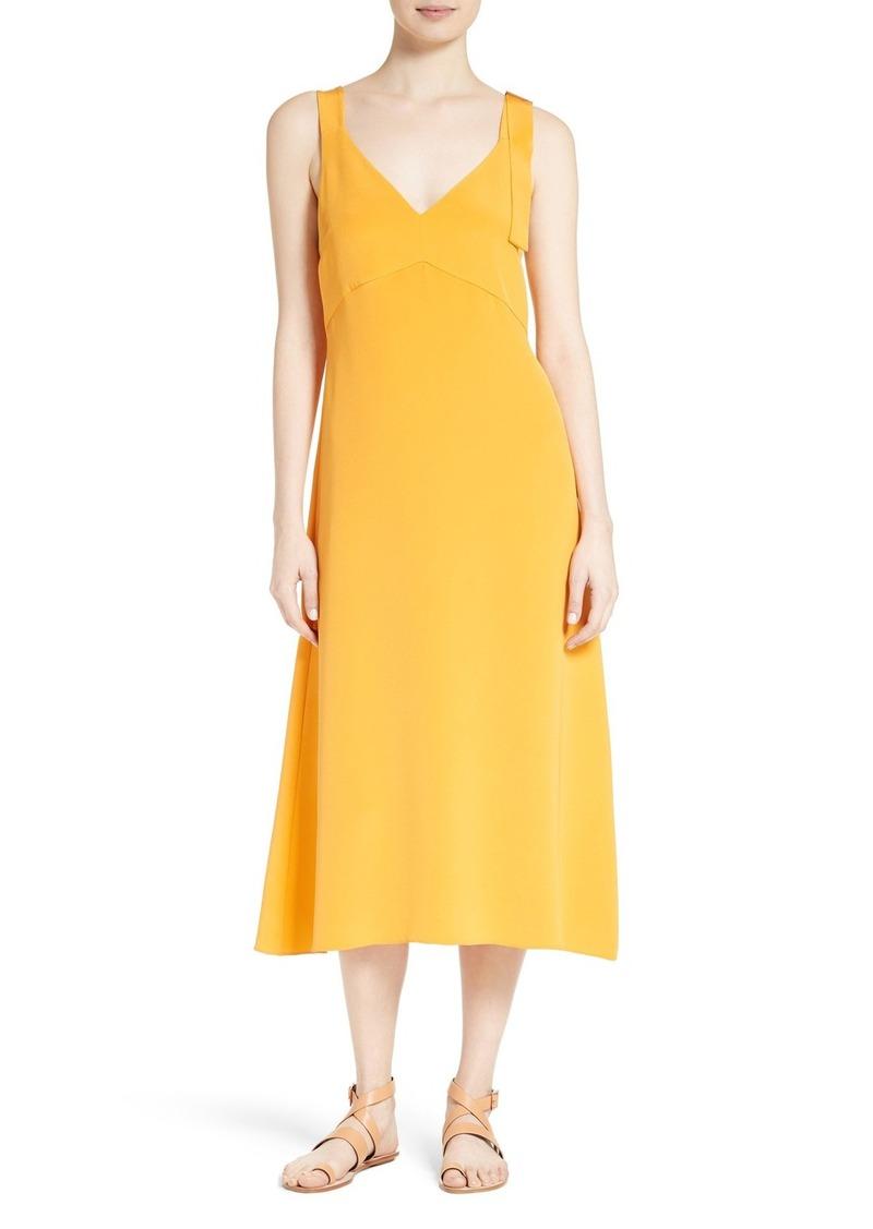 755c6821 SALE! Tibi Tibi Trapeze Silk Midi Dress