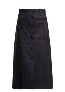 Tibi Trench quilted denim skirt