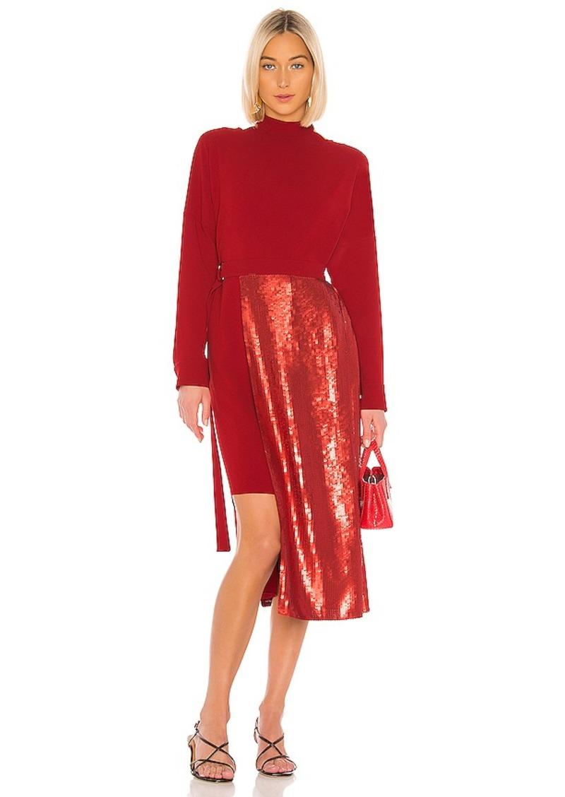 Tibi Triacetate Sequin Paneled Dress