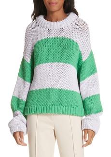 Tibi Tube Yarn Stripe Sweater