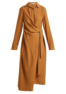 Tibi Twill wrap dress
