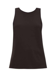 Tibi Twisted-back crepe top