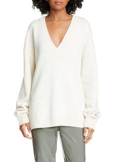 Tibi Two-Way V-Neck Cashmere Sweater