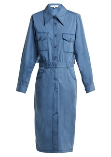 Tibi Utility denim midi dress