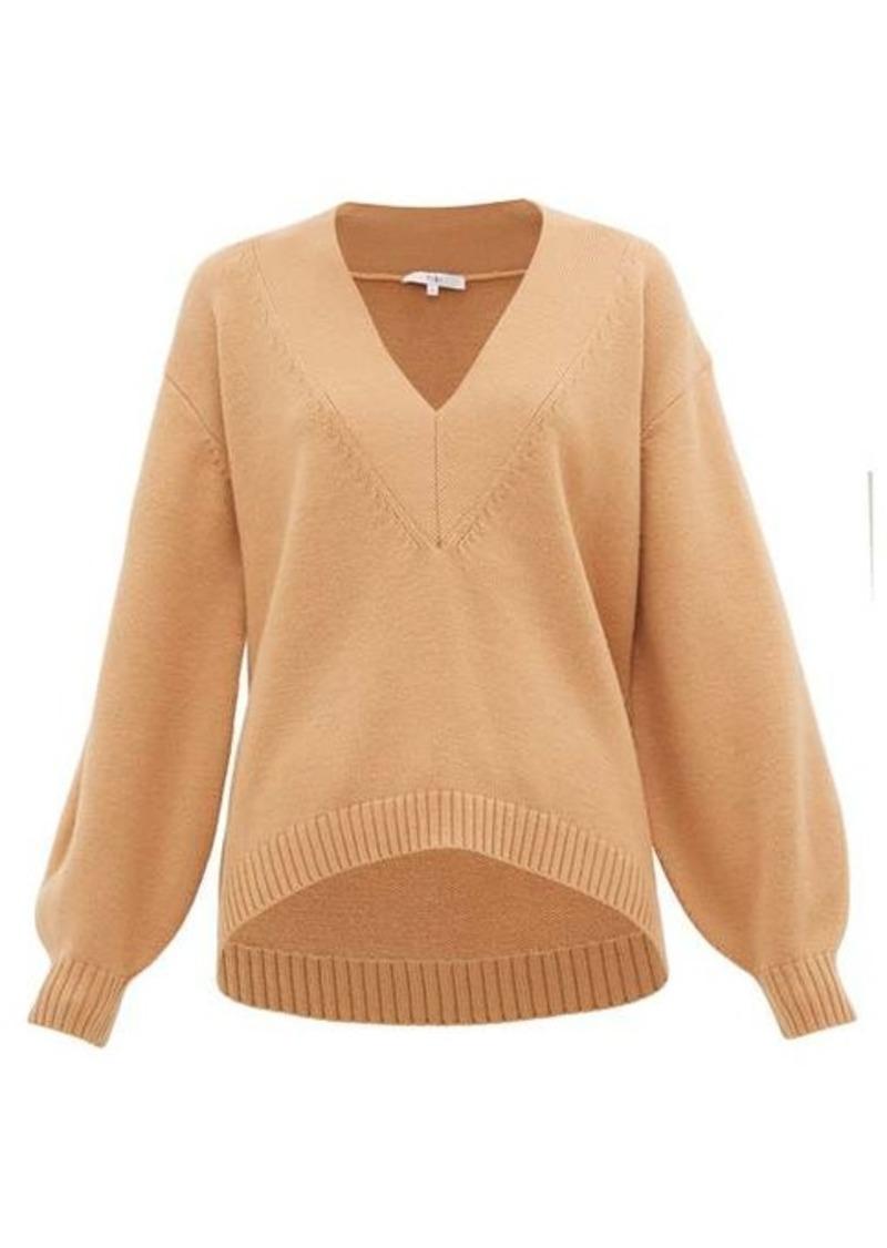 Tibi V-neck wool-blend sweater