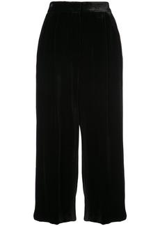 Tibi velvet Stella wide leg culottes - Black