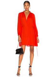 Tibi Viscose GGT Short Drawstring Hem Dress