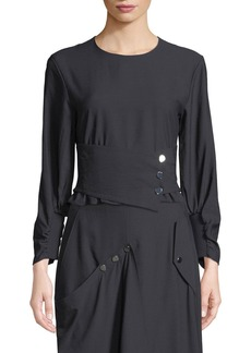 Tibi Washed Viscose Corset Top