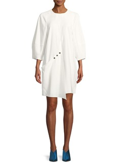 Tibi Washed Viscose Short Dress
