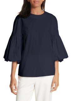 Tibi Watts Balloon Sleeve Oxford Top
