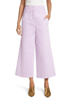 Tibi Wide Leg Crop Denim Pants