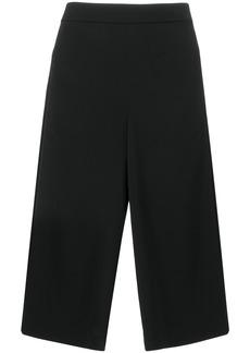 Tibi wide leg cropped trousers - Black