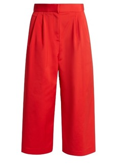 Tibi Wide-leg faille cropped trousers