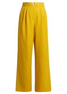 Tibi Wide-leg twill trousers