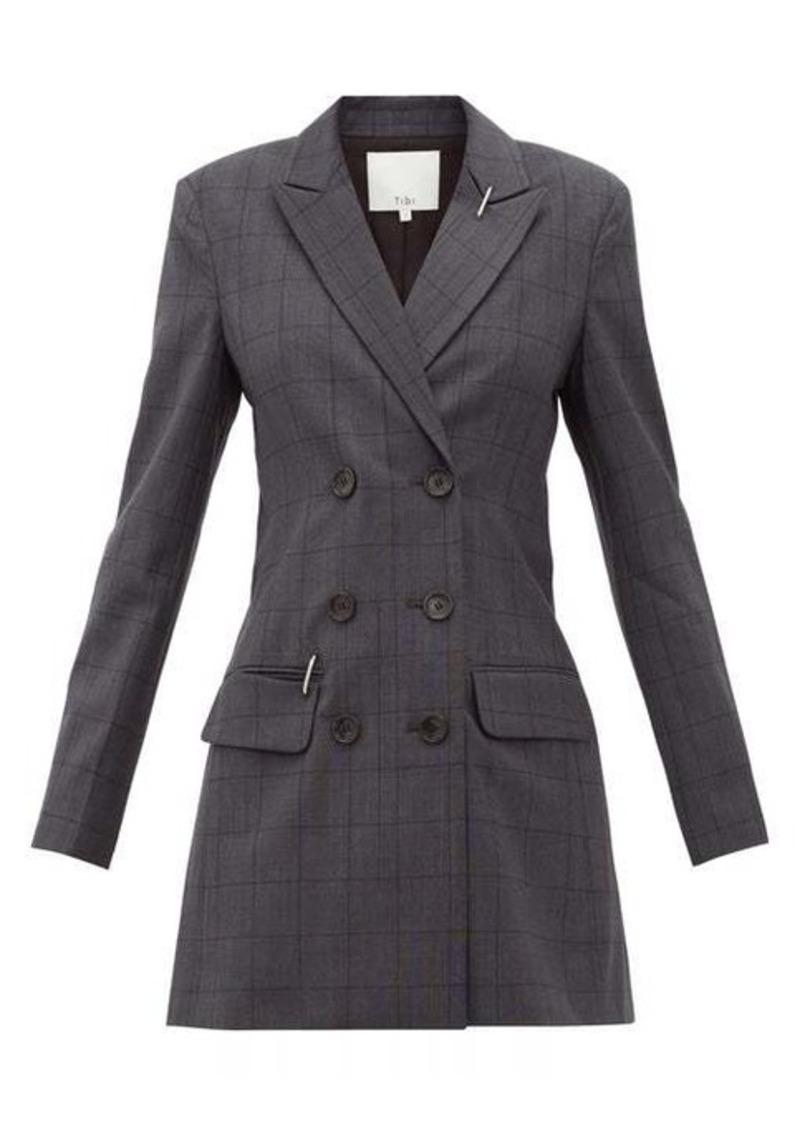 Tibi Windowpane-check blazer dress