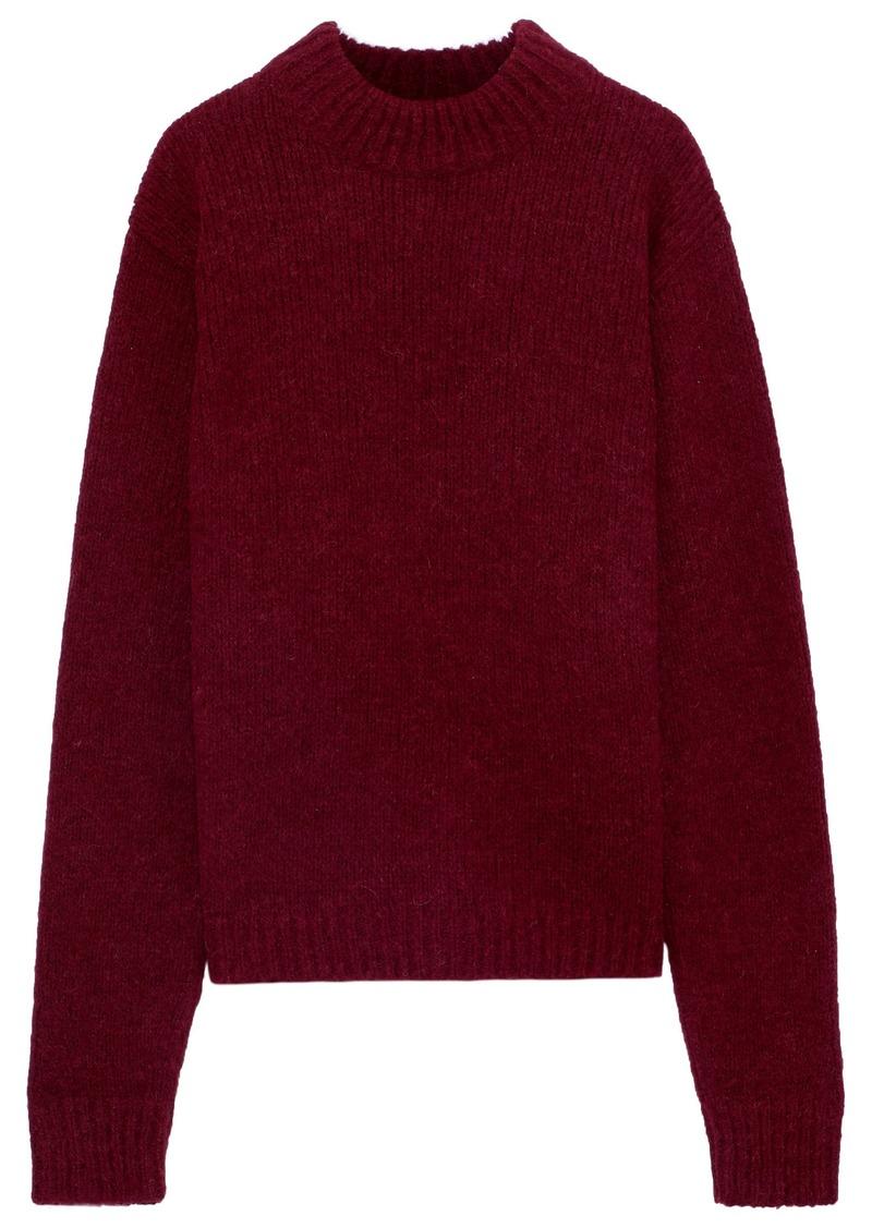 Tibi Woman Alpaca-blend Sweater Burgundy
