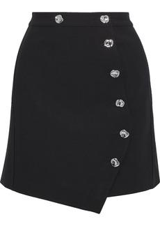 Tibi Woman Anson Asymmetric Cady Skirt Black