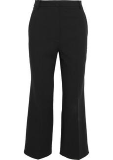 Tibi Woman Anson Cropped Cady Bootcut Pants Black