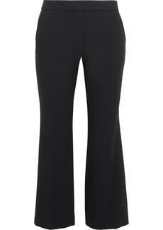 Tibi Woman Anson Striped Crepe Kick-flare Pants Black