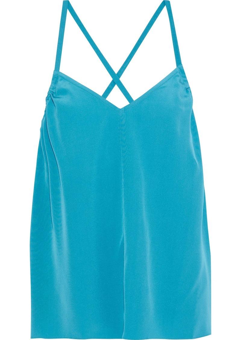 Tibi Woman Arielle Silk Crepe De Chine Camisole Turquoise