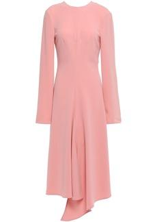 Tibi Woman Asymmetric Crepe Midi Dress Blush