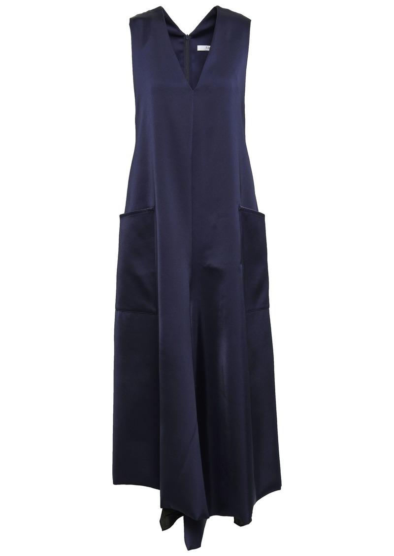 Tibi Woman Satin-twill Midi Dress Midnight Blue