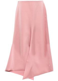Tibi Woman Asymmetric Satin-crepe Skirt Blush