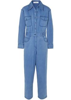 Tibi Woman Cotton-blend Twill Jumpsuit Azure