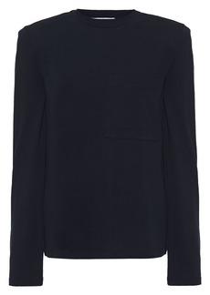 Tibi Woman Cotton-jersey Top Navy