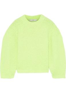 Tibi Woman Neon Alpaca-blend Sweater Bright Yellow