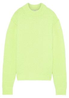 Tibi Woman Cozette Neon Alpaca-blend Sweater Bright Yellow