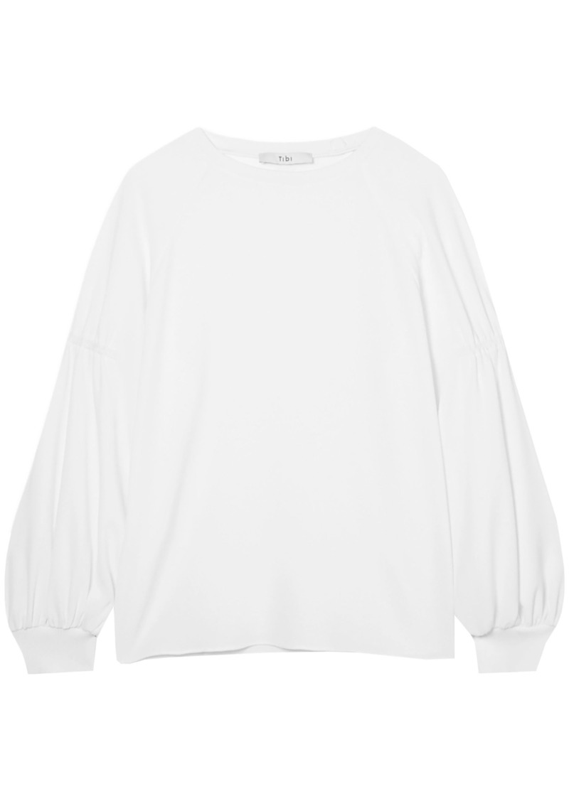 Tibi Woman Crepe Top Off-white