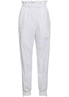 Tibi Woman Crinkled Shell Track Pants White