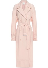 Tibi Woman Crinkled-shell Trench Coat Pastel Pink
