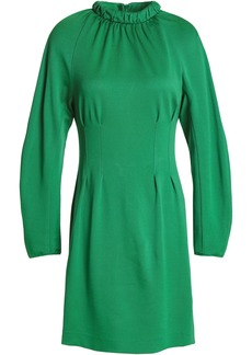 Tibi Woman Cutout Gathered Stretch-jersey Mini Dress Green