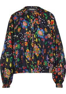 Tibi Woman Floral-print Shell Hooded Jacket Multicolor