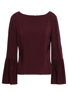 Tibi Woman Fluted Stretch-crepe Blouse Merlot