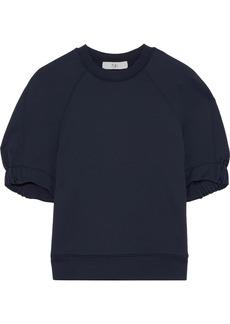 Tibi Woman French Terry Sweatshirt Navy