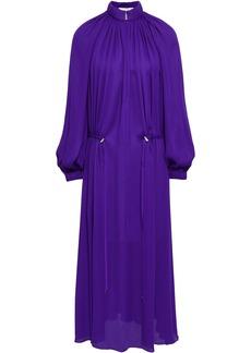 Tibi Woman Gathered Crepe Midi Dress Purple