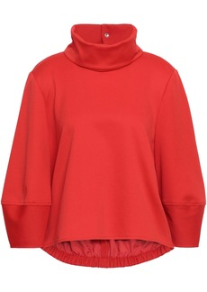 Tibi Woman Gathered Stretch-jersey Turtleneck Top Tomato Red