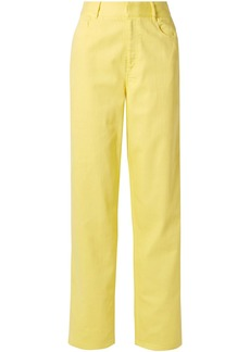 Tibi Woman High-rise Straight-leg Jeans Bright Yellow