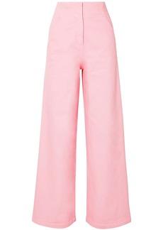 Tibi Woman High-rise Wide-leg Jeans Bubblegum