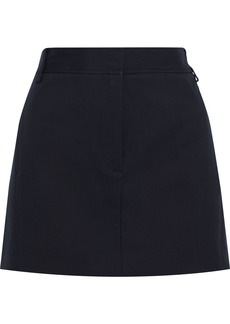 Tibi Woman Margaux Cotton-twill Mini Skirt Navy