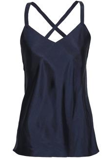 Tibi Woman Mendini Twill Camisole Midnight Blue