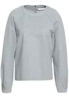 Tibi Woman Mélange Jersey Sweatshirt Stone