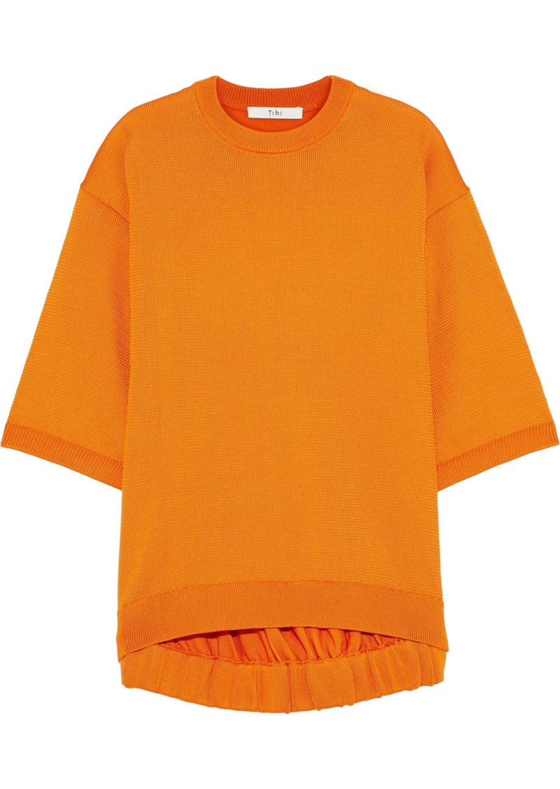 Tibi Woman Oversized Knitted Top Orange
