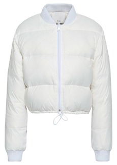 Tibi Woman Quilted Shell Down Jacket White